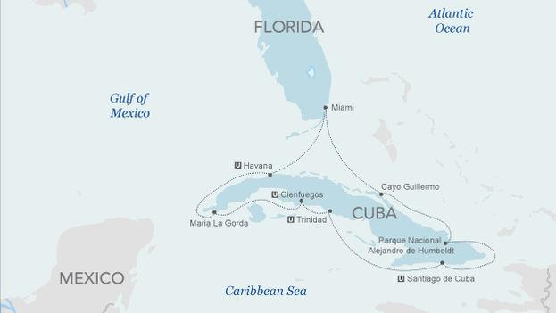 Mapa del recorrido de Haimarkline. (www.haimarkline.com)