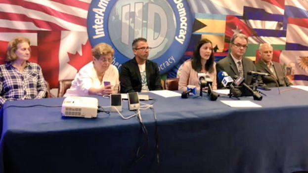 Rosa María Payá, líder de la plataforma Cuba Decide, presentó la posición de la organización este miércoles en Miami. (Captura)