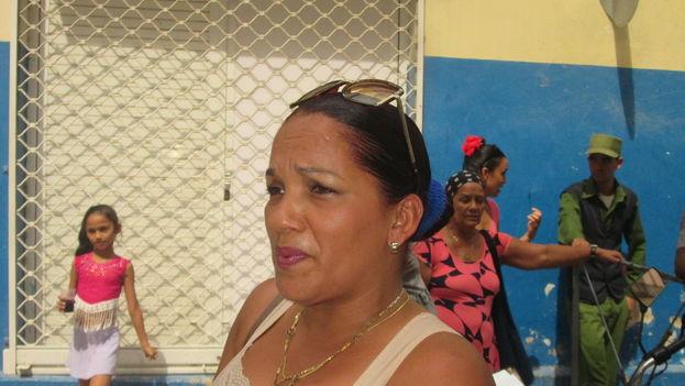 Mariagne Durán reside en el séptimo piso del edificio de Centro Habana afectado por el derrumbe y se niega a abandonar el inmueble. (14ymedio)