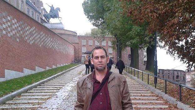 Mario Félix Lleonart durante su visita a Polonia