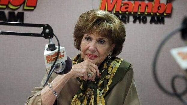 Martha Flores, pionera de la radio en español en Miami, nació en La Habana hace 92 años y llegó a Miami en enero de 1959. (Radio Mambí)