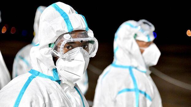 Médicos cubanos covid-19. (flickr)