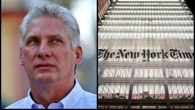 'The New York Times' respondió a Miguel Díaz-Canel en Twitter, asegurando que respaldan el reportaje publicado por su reportero Nicholas Casey. (Collage)