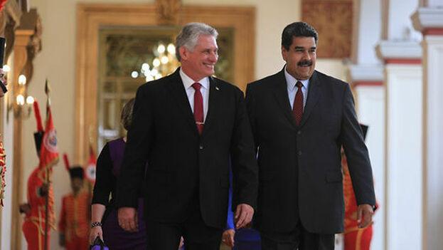 Los gobernantes de Cuba, Miguel Díaz-Canel, y de Venezuela, Nicolás Maduro. (@nicolasmaduro)