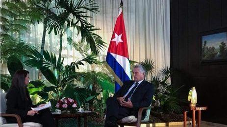 Miguel Díaz-Canel ofreció su primera entrevista como gobernante a la cadena estatal venezolana Telesur. (Telesur)