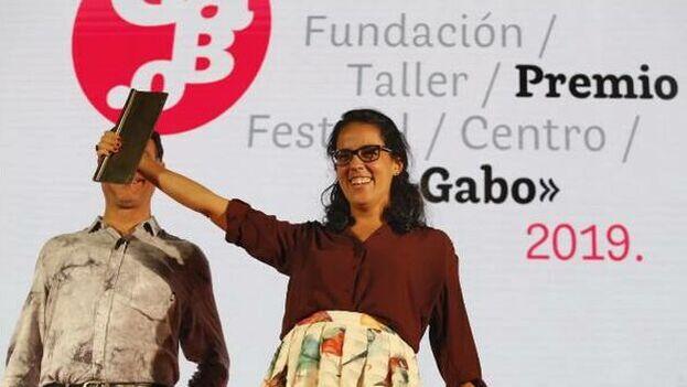 """Mónica Baró Sánchez obtuvo el Premio Gabo 2019 en la categoría de Texto por el reportaje """"La sangre nunca fue amarilla"""". (Captura)"""