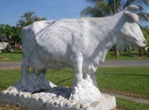 Monumento a Ubre Blanca en Isla de la Juventud.
