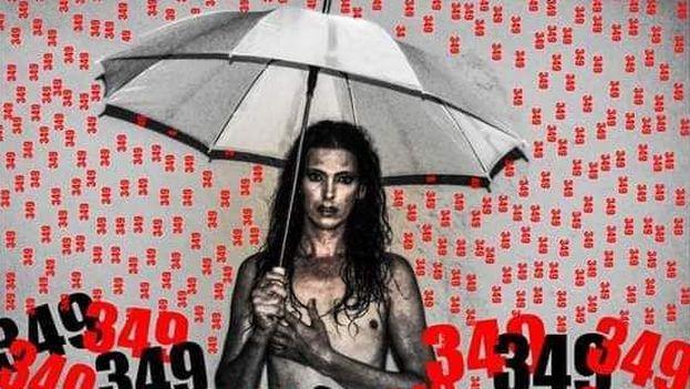Obra del artista independiente Nornardo Perea sobre el Decreto 349. (Facebook)