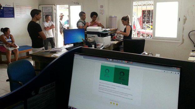 Oficina de Etecsa en Candelaria, donde se comercializa Nauta Hogar. (14ymedio)