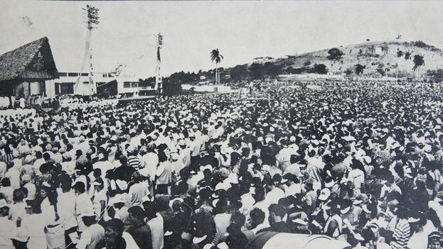 Misa del papa Juan Pablo II en Santa Clara el 22 de enero de 1998. (CC)