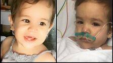 La pequeña Paloma Domínguez Caballero, quien falleció tras ser vacunada en La Habana. (Cortesía)