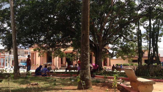 Parque acondicionado con wifi en Jagüey Grande en la provincia Matanzas. (14ymedio)