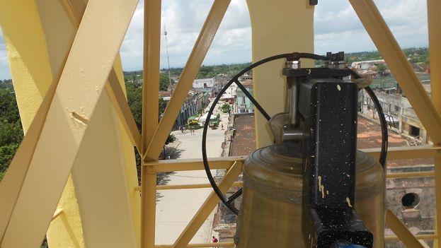 Una de las nuevas campanas donadas a Placetas (Foto José Gabriel Barrenechea/14ymedio)