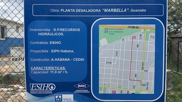 La Planta Desaladora Marbella brindará suministro de agua potable a la población de Guanabo al este de La Habana. (14ymedio)