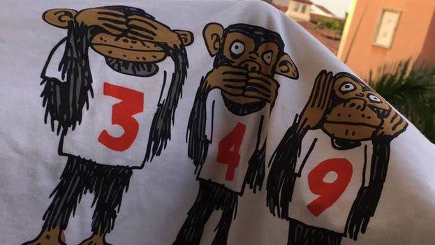 Pulóveres contra el Decreto 349 requisados por la Aduana cubana en el Aeropuerto Internacional José Martí de La Habana. (14ymedio)