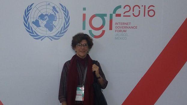 Regina Coyula durante el Forum de Gobernanza de Internet en México. (Cortesía)