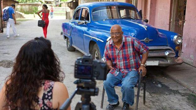 Rodaje de la serie 'Cuban Chrome', que se filmó en Cuba desde julio hasta diciembre del 2014. (Discovery Channel)