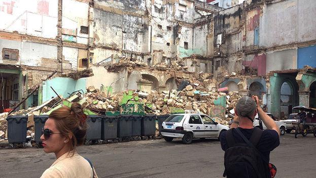 Ruinas: Prado y Teniente Rey, la 'esquina del pecado'. (14ymedio)