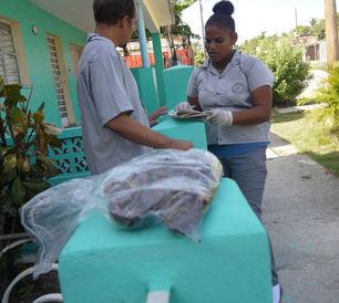 Salud Pública recolectando caracoles en reparto Poey, Arroyo Naranjo. (14ymedio)