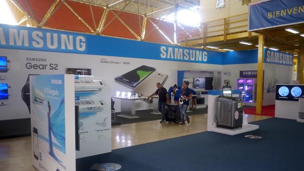 Samsung se lleva las palmas del público en la FIHAV. (14ymedio)