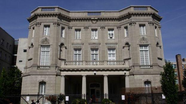 Sede de la futura embajada de Cuba en Washington.
