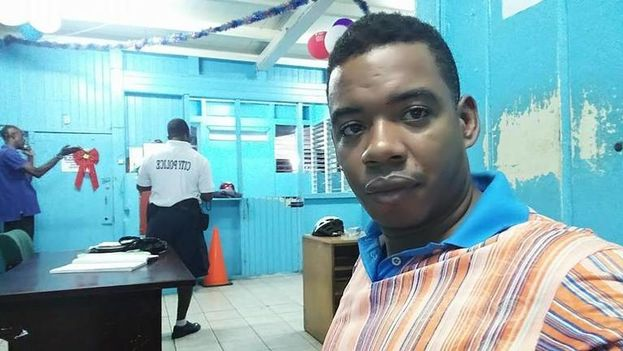 El periodista independiente cubano Serafín Morán Santiago, de 40 años, ha sido acusado en la isla de diseminar propaganda y de ser agente pagado del gobierno de Estados Unidos. Ahora está en un centro de detención de inmigración en Texas a la espera de una respuesta a su solicitud de asilo. (Cortesía de Serafín Morán Santiago)