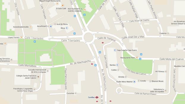 Situación de la rotonda que recibirá el nombre Oswaldo Payá. (Google Maps)