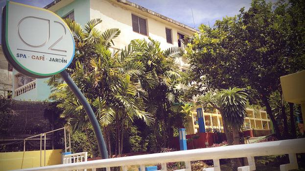 Spa o2, uno de los establecimientos de este tipo que están proliferando en La Habana. (Luz Escobar/14ymedio)