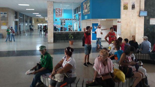 En la Terminal de Omnibus de La Habana este sábado la preocupación era viajar no participar en el referendo de la Constitución. (14ymedio)