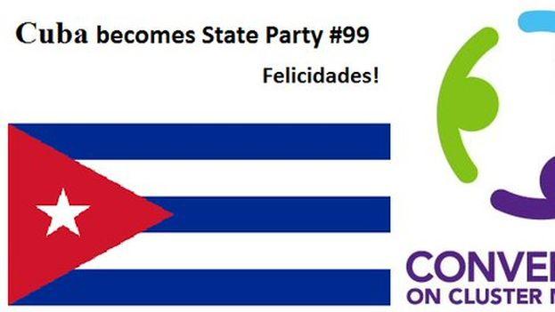 The Cluster Munition Coalition felicita a Cuba por adherirse al pacto internacional. (@banclusterbombs)