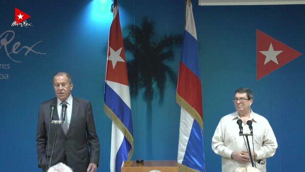 """""""Vamos a seguir apoyando a los líderes cubanos"""", enfatizó el diplomático, que se reunió en la mañana de este miércoles con su homólogo cubano en la sede de la cancillería. (@CubaMINREX)"""