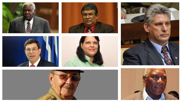 Varios miembros del nuevo Buró Político, anunciado durante VII Congreso del PCC.