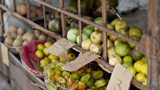 Venta de fruta en un mercado. (14ymedio)