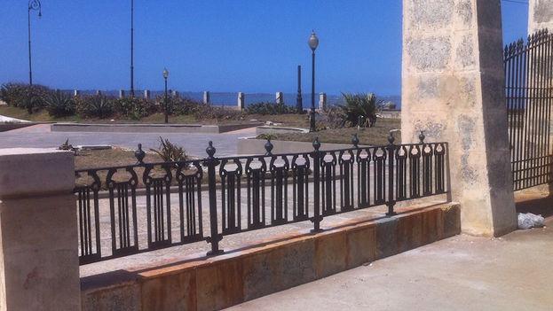 Verja actual del parque Maceo. (Luz Escobar/14ymedio