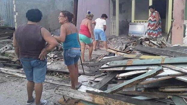 Los restos de la casa de Wifredo Lam en Sagua la Grande, Villa Clara. (Cortesía)