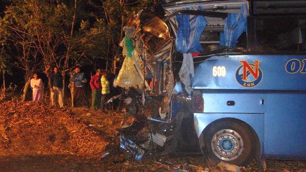 El accidente ocurrió la noche de este miércoles en la comunidad conocida como El Chorizo ubicada en el kilómetro 421 de la Carretera Central. (Escambray)