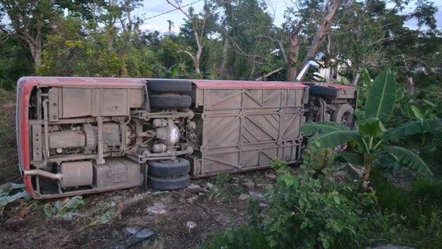 El accidente se produjo en torno a las tres de la mañana hora local. (La Voz de Yaguajay)