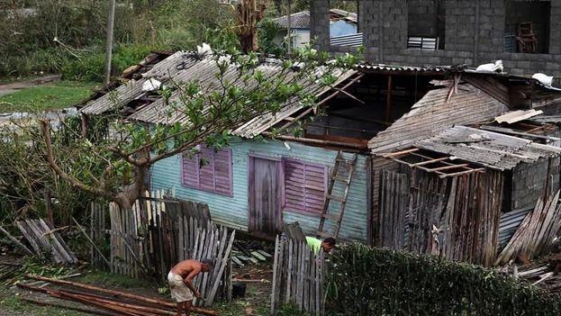 Las afueras de Baracoa tras el paso del huracán Matthew. (EFE)