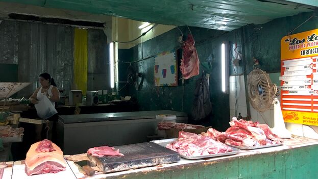 La libra de carne de cerdo sin hueso ha alcanzado los 70 CUP en varios mercados de la Isla. (14ymedio)