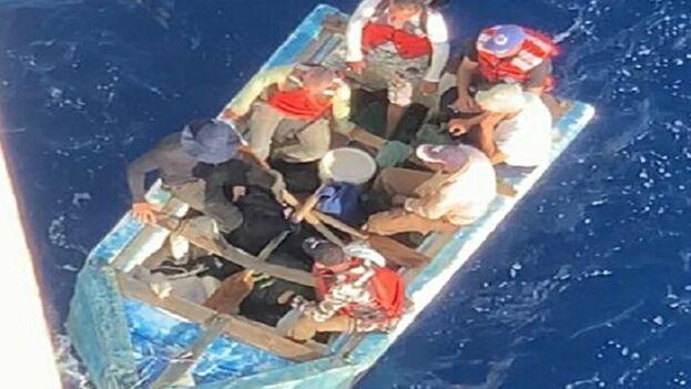 Los balseros intentaban llegar desde Pinar del Río a los cayos de Florida.