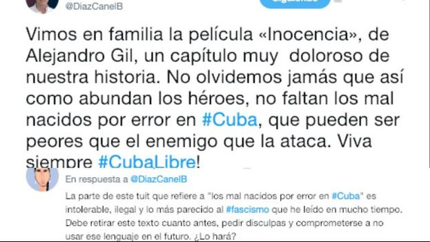 En menos de 280 caracteres el mandatario cubano ha dejado escrita su fórmula de Gobierno. (14ymedio)