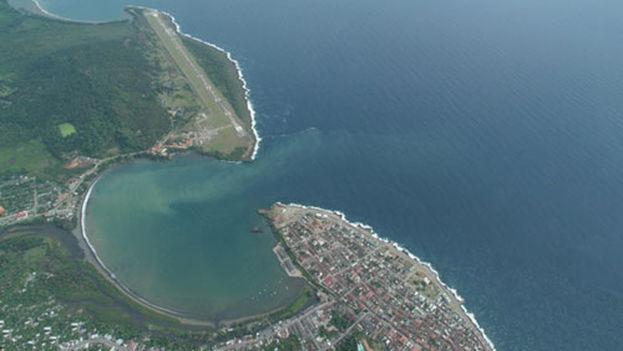 La ciudad de Baracoa. (Google Earth)