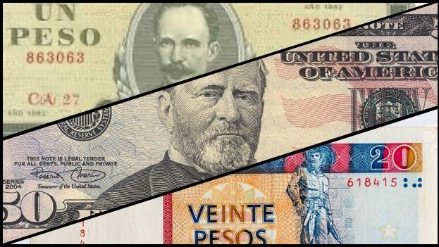 El peso convertible o chavito pretendió ser el sustituto del dólar en Cuba. (Collage/14ymedio)