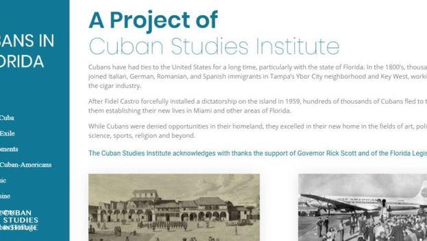 El objetivo es que el portal permita conocer también a los cubanos que se han destacado en el mundo académico, los negocios, la ciencia, la medicina, el arte o los deportes en EE UU. (Captura)