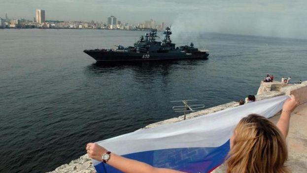 En 2008 el destructor cazasubmarinos 'Almirante Chabanenko' abrió una nueva era al atracar en La Habana por vez primera desde 1991. (EFE)