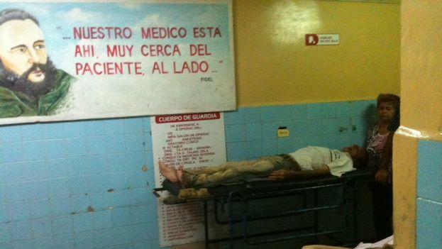 Cuerpo de guardia en el Hospital Provincial Abel Santamaría Cuadrado de Pinar del Río. (Juan Carlos Fernández)