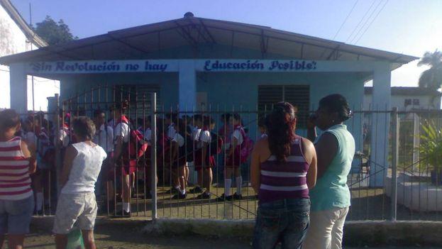 La escuela primaria Pelayo Cuervo Navarro de Taguayabón, Villa Clara. (14ymedio)