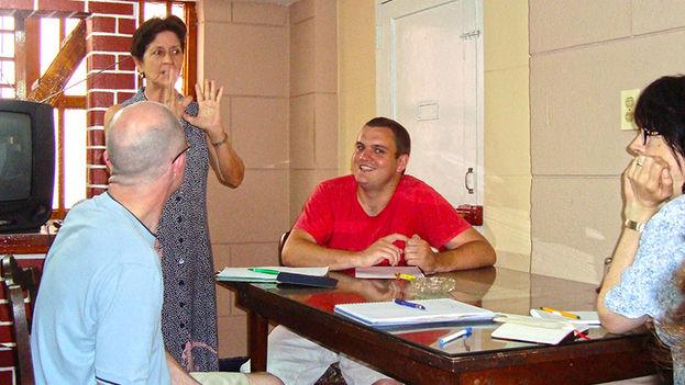 Durante una clase de español en una sede alternativa de Enforex en Santiago de Cuba. (Enforex)