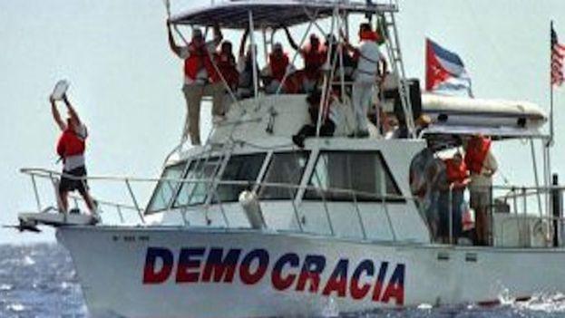 Una flotilla organizada por exiliados cubanos llegó a 20 kilometros de La Habana