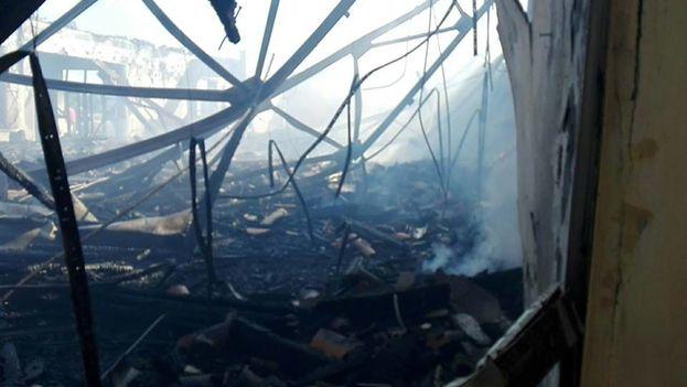 El incendio se localizó en uno de los teatros y en las oficinas de protocolo de la fortaleza. (14ymedio)
